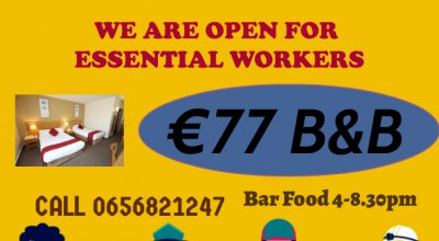 Essential Worker Only €77 B&B